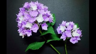 How To Make Hydrangea Flower From Crepe Paper -  Craft Tutorial
