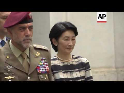 Japanese Prince Akishino meets Italian PM