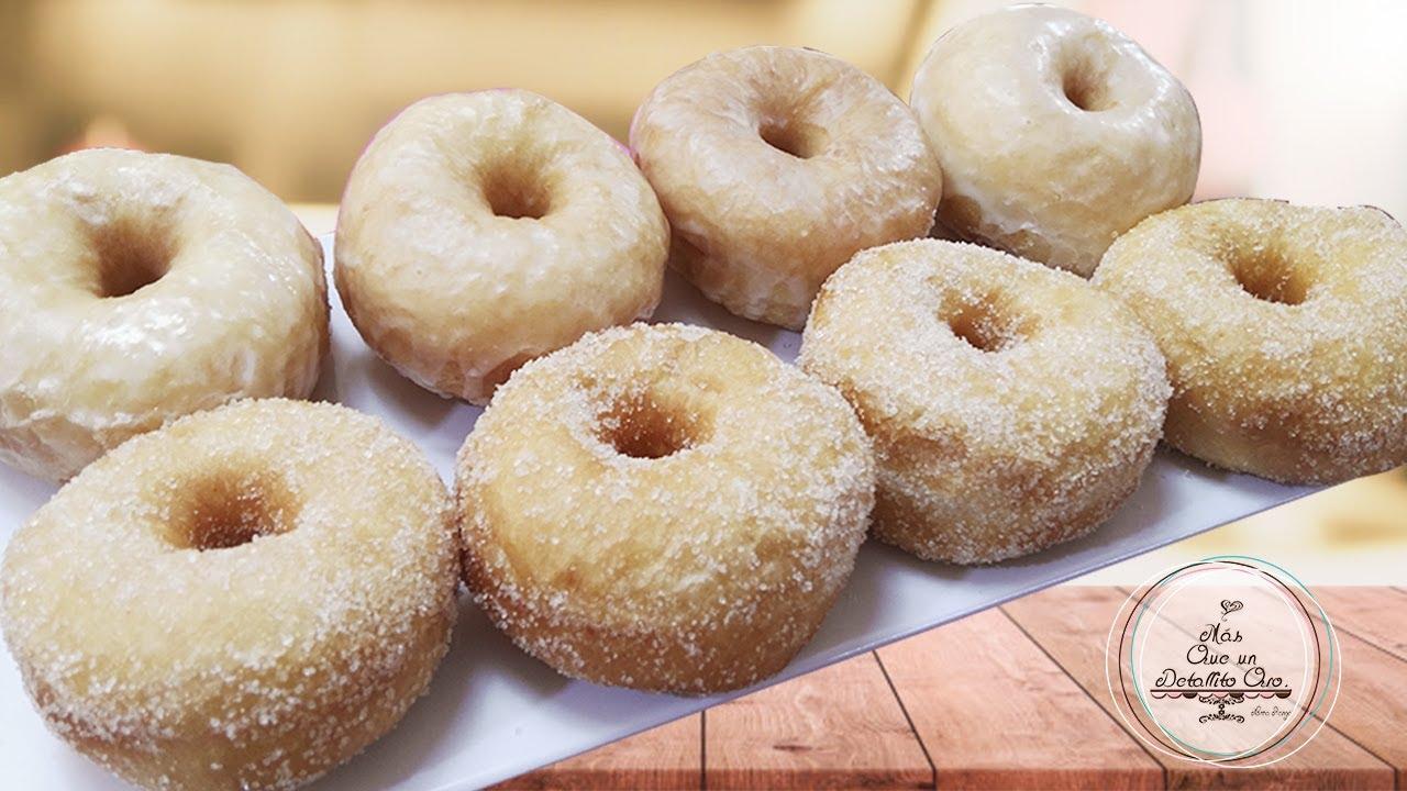 MASA PARA DONAS O ROSQUILLAS PERFECTAS | HOMEMADE DONUTS RECIPE #recetadonas #rosquillas #donuts