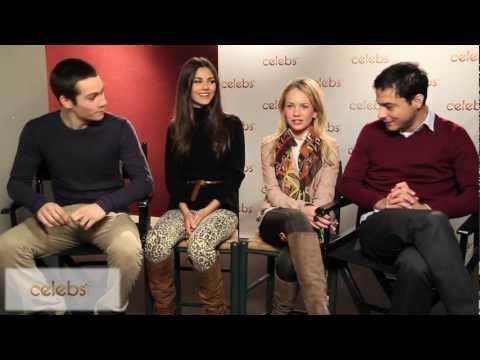 Victoria Justice & Britt Robertson on 'The First Time' at the Celebs.com Studio at Sundance