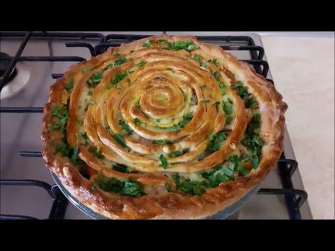 Пирог со шпинатом и сыром очень вкусный пирог! рецепт с