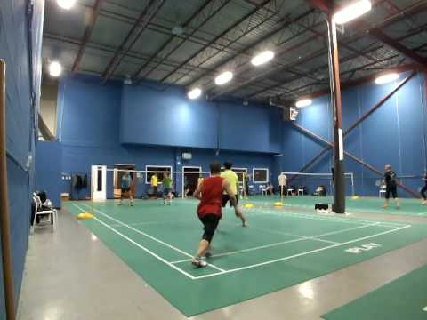 Toronto Badminton Jason/Peter vs Matias/Frank 2017-03