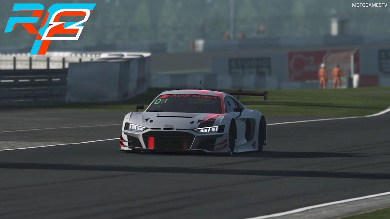 rFactor 2 - Audi R8 GT3 2019 at Nürburgring Grand Prix [4K 60FPS]