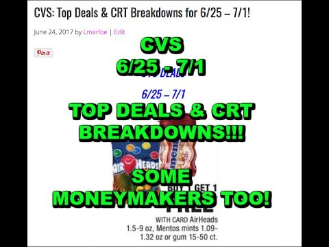 CVS Top Deals & CRT Breakdowns for 6/25 - 7/1!