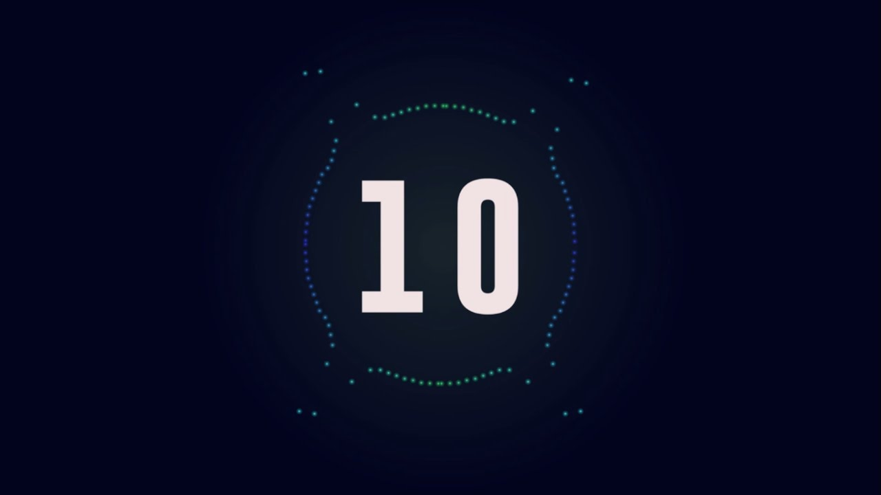 Download After Effect - Countdown 10 seconds