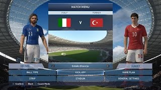 Italy vs Turkey - Pes 2015 gameplay - with penalty shoot-out
