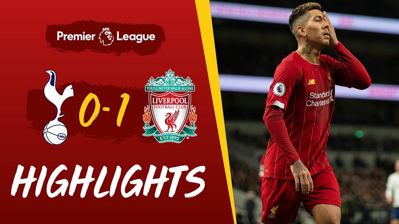 Tottenham 0 1 Liverpool Firmino S Emphatic Strike Seals Win Highlights Youtube
