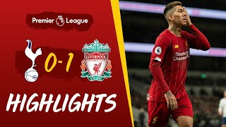Tottenham 0-1 Liverpool  Firmino39s emphatic strike seals win  Highlights