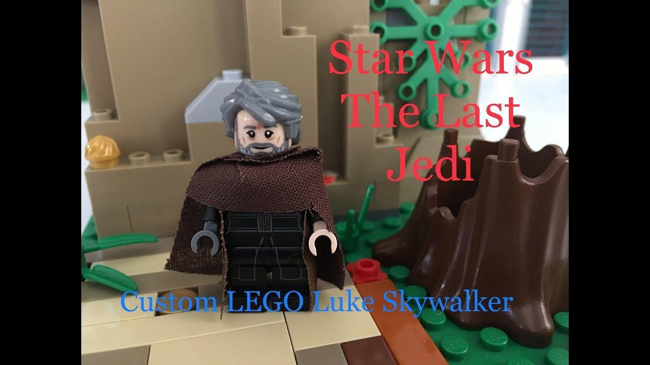 Lego Star Wars The Last Jedi Custom Luke Skywalker Mini Figure Instructional Video Youtube