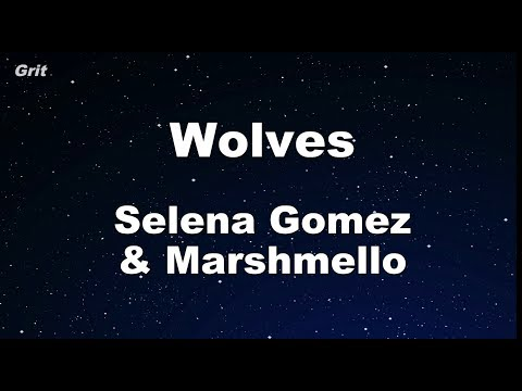 Wolves  - Selena Gomez, Marshmello Karaoke 【With Guide Melody】 Instrumental