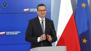 Mateusz Morawiecki podczas konferencji dot. budżetu na 2021 rok