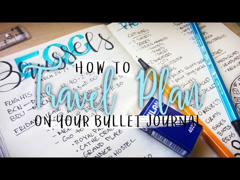 How To Travel Plan on your Bullet Journal | Plan With Me