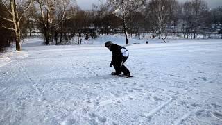 Сноуборд,9янв2013 Болтовня, спуск со скоростью
