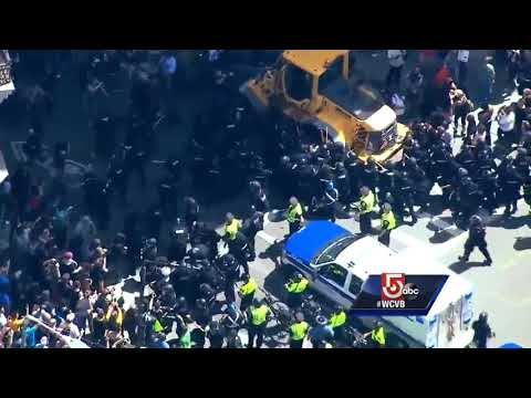 Police clash with some protesters near Boston Common
