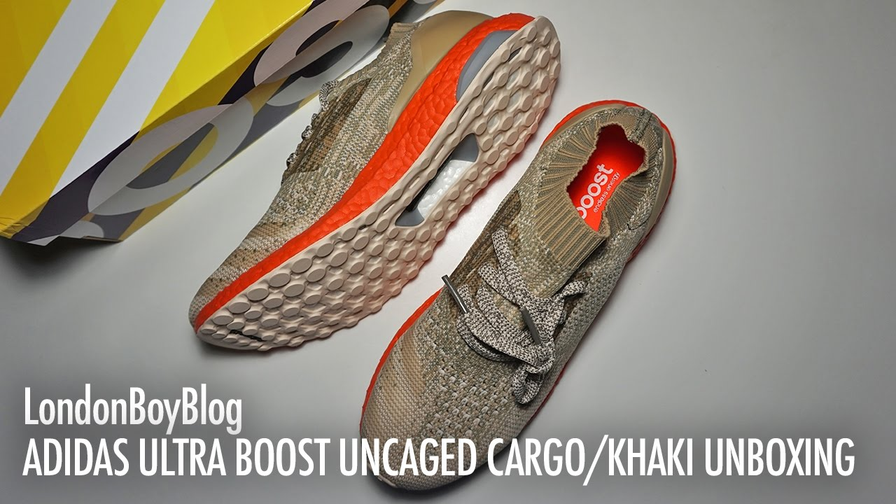 Adidas Ultra Boost Uncaged Trace Cargo Linen Khaki Unboxing - YouTube 56c9e254e