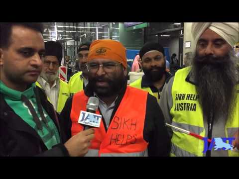 Hindi Infos, Fresh Food from Sikh Help Center Vienna for Refugee