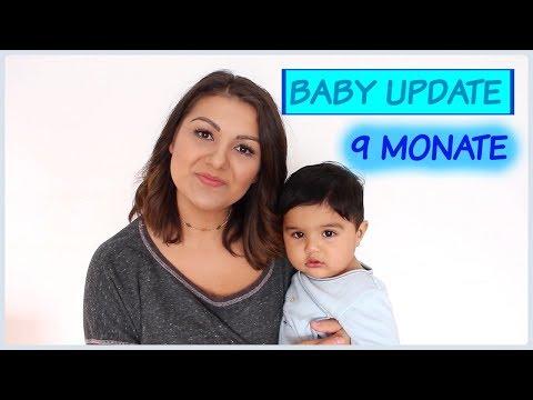 BABY UPDATE | 9 MONATE BABY | Baby will stehen, Essgewohnheiten, Zahnen etc. | OlasWorld