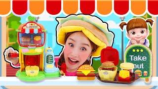 지니가 햄버거 가게를 열었어요!! 콩순이 말하는 햄버거…