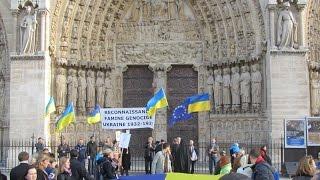 Commémoration du 81ème anniversaire du Holodomor, Paris, le 23 novembre 2014