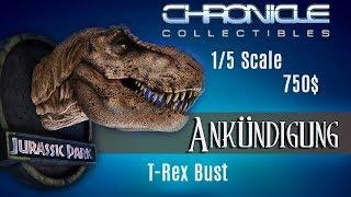 Chronicle Collectibles - Jurassic Park T-Rex 1/5 scale Büste Ankündigung