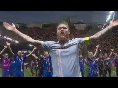 Iceland football fans Viking Thunder Clap vs We Will Rock You