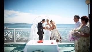 Свадебная съемка - выездная регистрация у моря!