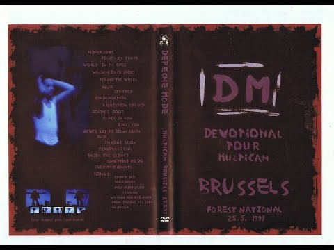 Depeche Mode live Devotional tour Brussels 25.5.1993