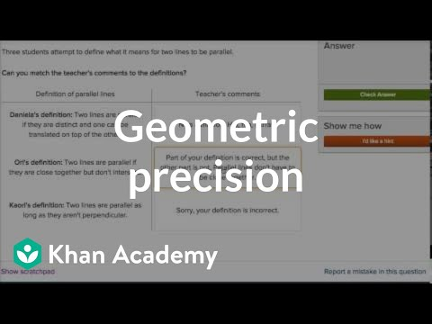 Geometric precision practice | Introduction to Euclidean geometry