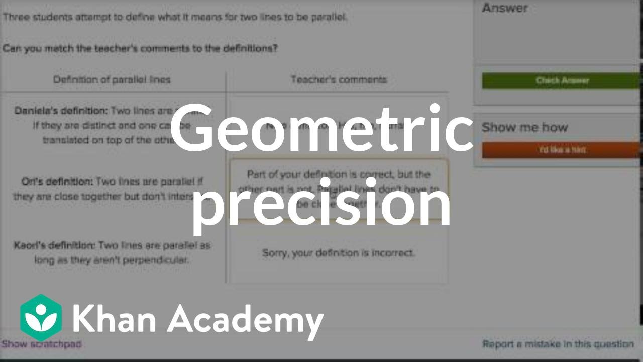 Geometric definitions example (video) | Khan Academy