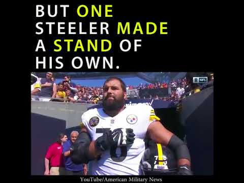 Alejandro Villanueva Defies Steelers' Anthem Protest, Takes Field Hand Over Heart
