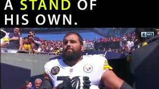 Alejandro Villanueva Defies Steelers' Anthem Protest, Takes Field Hand Over Heart