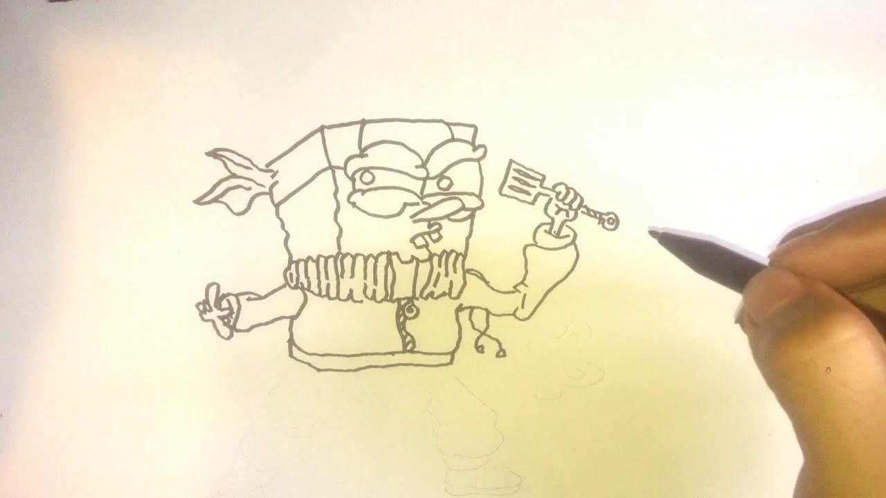 Menggambar Naruto Di Satukan Dengan Spongebob - Spongebob Ninja Pants #1