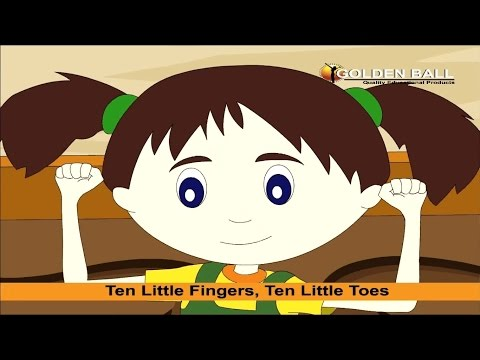 Ten Little Fingers, Ten Little Toes Nursery Rhyme With Lyrics  Kids Songs I Rhymes  Kids Poem