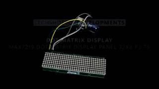 MAX7219 Dot Matrix Display Panel 32X8 P3.75