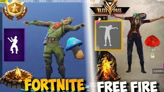 FREE FIRE VS FORTNITE ? FREE FIRE AND FORTNITE COMPARATE?? - COPIES