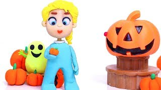 Halloween superhero cartoon 💕 Play Doh Stop motion videos
