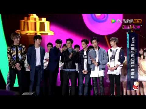 150413 GOT7 won Most Potential Newcomer Award @ 2015 Top Chinese Music Festival