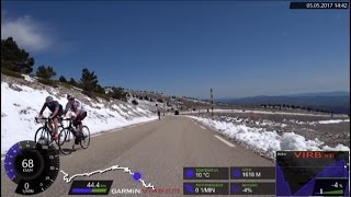 60 Minute Uphill Extreme Cycling Training Mont Ventoux France Full HD