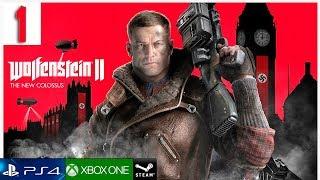 WOLFENSTEIN 2 THE NEW COLOSSUS Parte 1 Gameplay Español PC   Walkthrough Prologo 1 HORA GAMEPLAY