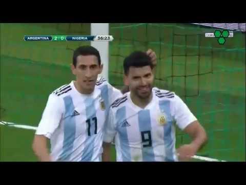 Gol de Agüero. Argentina-Nigeria