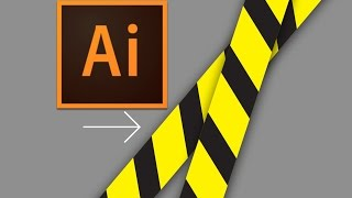How To Make Caution Tape in Illustrator: DESIGN NINJA #8