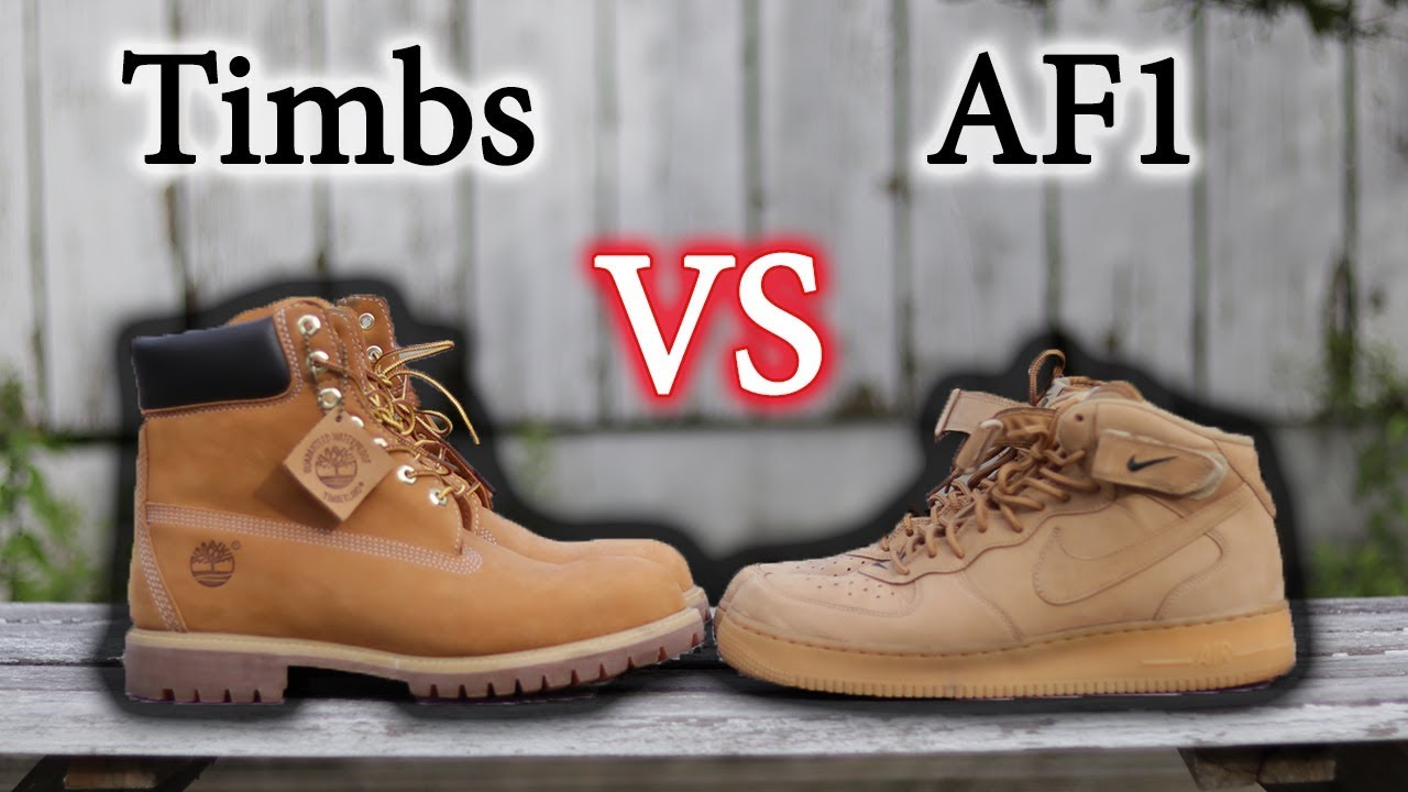 size 40 da608 990fe Essential Fall Sneakers   Air Force 1 Flax Vs Timberlands   Close Up   On  Feet