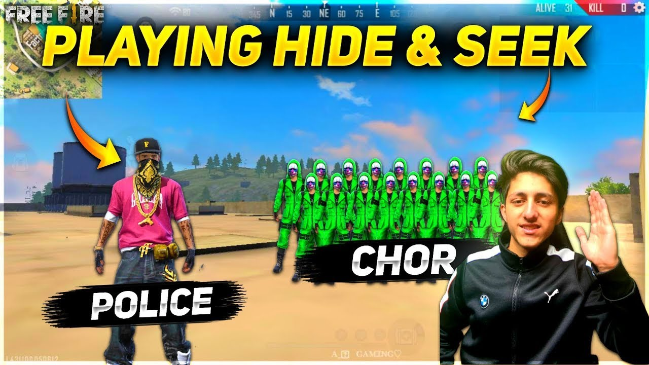 Playing Hide & Seek Finding These Green Criminals on Factory Roof - Garena Free Fire