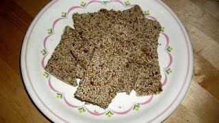 Vegane Rohkost: Sesamriegel - Ausreichend mit Kalzium versorgen (Raw Vegan Sesam Cracker)