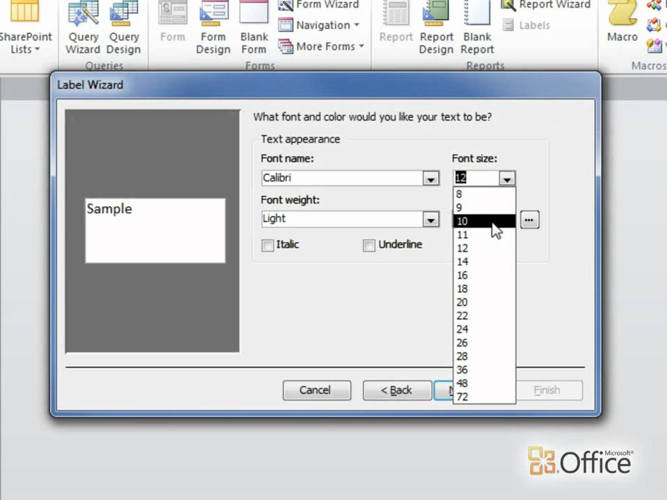 Access 2010 Create mailing labels in Access YouTube