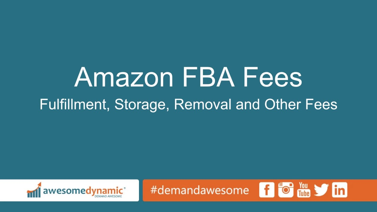 fba fulfillment fees