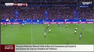 París atacada por terroristas, explosiones fuera del estadio de fútbol, 6 ataques