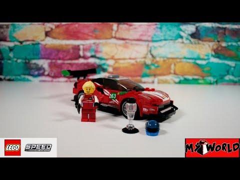 Ferrari 488 GT3 Scuderia Corsa - LEGO SPEED CHAMPIONS 75886 Speed Building Review + Instruction