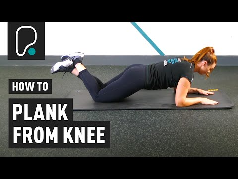 Ab Exercise - How to plank from knee (modified plank)