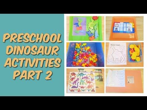 Dinosaurs art activities for pre k